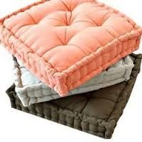 Box Cushion or Floor Cushion filled with Polyester stable fibre as well as cotton as per buyer's requirement