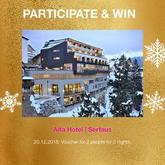 Win 2 nights for 2 at Alfa Hotel, Serfaus, Austria! Contemporary Design, Austria, Advent Calendar, Night, Day, Travel, Voyage, Modern Design, Viajes