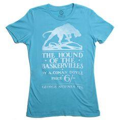 The Hound of the Baskervilles book cover t-shirt | Outofprintclothing.com