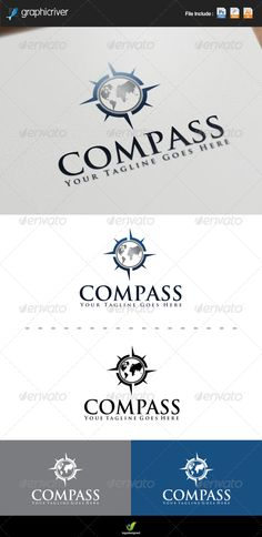 Compass Logo — Photoshop PSD #wolrd #compass • Available here → https://graphicriver.net/item/compass-logo/7558000?ref=pxcr