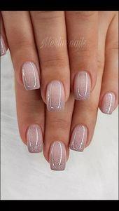 142 top class bridal nail art design for spring inspiration Page 33 Nageldesign Nail Art Nagellack Nail Polish Nailart Nails Nail Art Designs, Pretty Nail Designs, Nails Design, Nude Nails, Pink Nails, Fancy Nails, Acrylic Nails, Colorful Nail Art, Bridal Nail Art