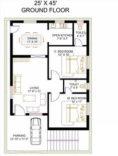 10 Marla House Plan, 2bhk House Plan, Simple House Plans, Model House Plan, Duplex House Plans, House Layout Plans, New House Plans, House Layouts, Bungalow Floor Plans