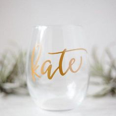Our stemless wine glasses are perfect bridesmaid gifts! These are also lovely for bridal showers, bachelorette parties, or rehearsal Personalized Wine Glasses, Personalized Bridesmaid Gifts, Personalised Wine, Personalized Favors, Bridesmaid Proposal, Be My Bridesmaid, Bridesmaids, Bridesmaid Glasses, Gifts For Wedding Party