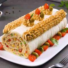 Sandwich Cake, Sandwich Shops, Sandwich Recipes, Finger Sandwiches, Deli Sandwiches, Cucumber Sandwiches, Tasty, Yummy Food, Party Snacks