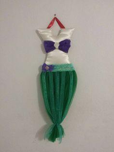 Little Mermaid Custom Hair Bow Tutu Holder by JennyBugs3 on Etsy