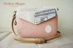 Hothot Ginger ♥ Unique Handmade Zakka 辣辣姜手作杂货: Journey Drawing Envelope Sling Bag // 绘出旅途信封斜挎包 // SOLD