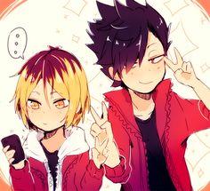 ♥ #KuroKen ♥ Taaaampoco me gusta esta pareja jaja pero esta imagen es hermosa y asjanaocjak #Haikyuu