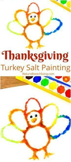 How to Make The Best Thanksgiving Turkey Salt Painting Watercolor Salt Painting Turkey Preschool Craft Fun Fall Turkey craft kids love Raised salt painting process art Thanksgiving Art Projects, Thanksgiving Activities For Kids, Thanksgiving Turkey, Thanksgiving Crafts For Kindergarten, Thanksgiving Prayer, Thanksgiving Blessings, Thanksgiving Appetizers, Thanksgiving Outfit, Halloween Projects