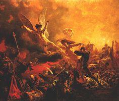 """""""O Triunfo do Gênio da Destruição"""" (1878), de Mihály Zichy"""