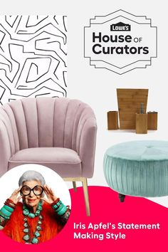 Bring home lush colors, textures and patterns when you shop Iris Apfel's Statement Making Style curation for Lowe's House of Curators today!​