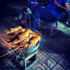 Food Street Nha Trang, Vietnam.  Fresh catch of the day.