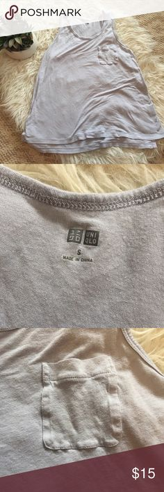 Uniqlo Soft Racerback Tank This is a very soft and comfy tank top. No rips or stains. Uniqlo Tops Tank Tops