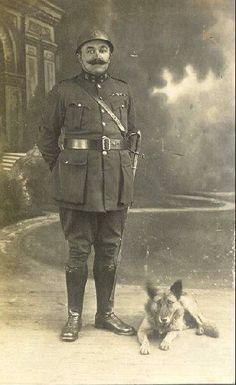 A WWI Belgian solider and his dog (c. 1914)