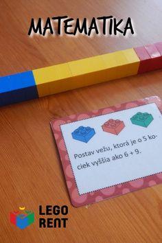Matematické kartičky na stiahnutie. Aby aj matika deti bavila. Lego, Legos