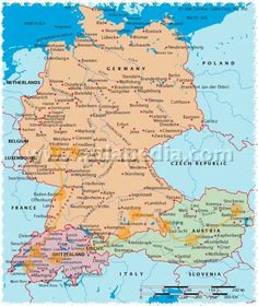 Where can you purchase a complete map of Germany?
