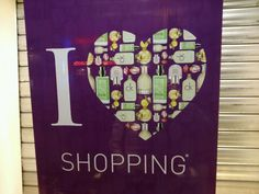 Shop until u drop heart