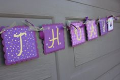 Tangled Happy Birthday Banner Tangled Party by WhimsicallyCreated