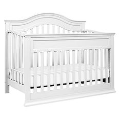 The classic beauty and versatility of the DaVinci Brook 4-in-1 Convertible Crib is designed to grow with baby from nursery to early adulthood. Conveniently converts from a crib to a toddler bed to a daybed and full-size bed for years of dependable use.