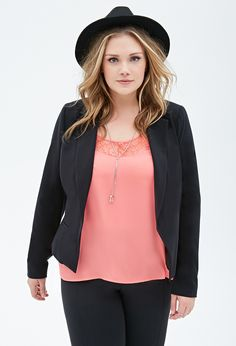 Classic Woven Blazer | FOREVER21 PLUS - 2000056964
