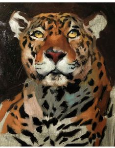 Guess I have big cats on the brain again 🐯 this jaguar isn't finished yet, but he's off to a good start:) Cool Paintings, Animal Paintings, Animal Drawings, Big Cats Art, Tiger Art, Wildlife Art, Art Plastique, Beautiful Cats, Dog Art