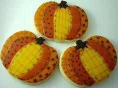 Patchwork Pumpkins Cookies
