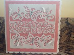 Made 2015 card using tonic dies Card Making Inspiration, Making Ideas, Tonic Cards, Tattered Lace Cards, Studio Cards, Birthday Cards For Women, Magnolia Stamps, Create And Craft, Mothers Day Cards