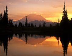 National Parks Collection - Mount Rainier Park Paint-By-Number Kit USA 97