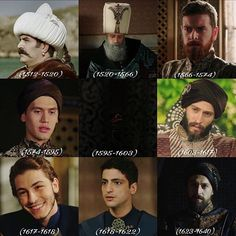 Yavuz Sultan Selim   Kanuni Sultan Süleyman   Sultan II. Selim ✨  Sultan III. Murat   Sultan III. Mehmet   Sultan I. Ahmet   Sultan I. Mustafa   Sultan Genç Osman . Sultan IV. Murat