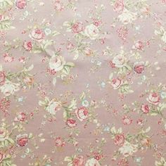 Dusky Pink vintage style floral print design on cotton poplin fabric, ideal for apparel sewing & crafts. Light pink flowers & green leaves on a Pink backdrop Light Pink Flowers, Cream Flowers, Pink Roses, Floral Print Design, Floral Prints, Vintage Cotton, Vintage Pink, Vintage Rosen, Pink Backdrop