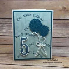 Klompen Stampers (Stampin' Up! Demonstrator Jackie Bolhuis): Number Of Years Card #3