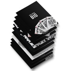 Unique Designer Greeting Card with a Playing Card theme  #TheBlackBookofCards #UnCommonBeat #Typography #Designporn #Playingcards #cardporn #Design #GreetingCards