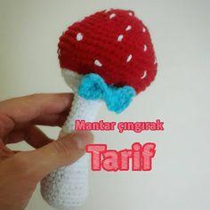 Leithygurumi: Amigurumi Mushroom Baby Rattle English and Turkish Pattern