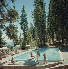 "'Pool At Lake Tahoe' 1959 Slim Aarons **XXL** 40 X 40"" PERSPEX C-Type print in Art, Art from Dealers & Resellers, Prints 
