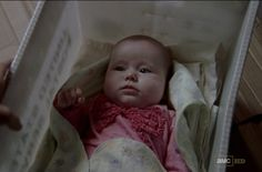 Baby Judith, in her ass-kicking mail crate crib