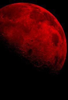 Beautiful blood moon,  let the time of the vampire arise.