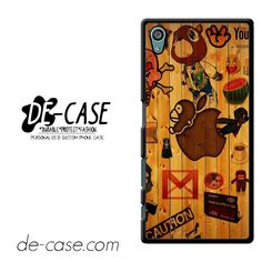 Social Apple Wood DEAL-9802 Sony Phonecase Cover For Xperia Z5