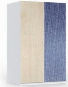 Шкаф платяной 2-дверный Шкаф для хранения одежды 2-дверный с внутренними полками, выдвижными ящиками, штангой для вешалок