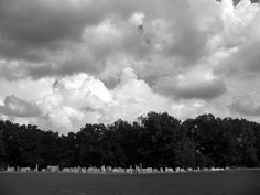 The cemetery of Poplar Springs Baptist Church in Ware Shoals, SC under an expansive sky. Pixel Photography, Storyboard, Cemetery, Clouds, Sky, Places, Artist, Outdoor, Heaven