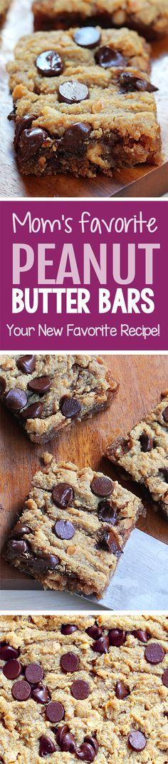 Gooey Chocolate Chip Peanut Butter Bars