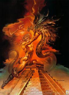 Quetzalcoatl by Boris Vallejo