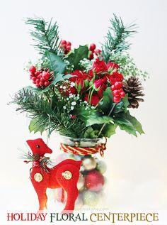 Holiday Craft: DIY Floral Centerpiece