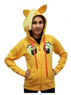 Applejack Face Costume Hoodie with Mane