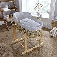Looking for a baby bed for your expected new arrival can be a tough job with so much to choose from! Why not try the Clair de Lune Speckles High Top Palm Moses Basket. A stylish, modern Moses basket design that's based on a tradition bassinet silhouette. Dressed in the UK with super soft cotton fabrics it's the ultimate in comfort for your baby. Available in Blue, Grey and Pink Moses dressing. Take a look here: