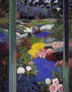 Jean-Pierre Cassigneul - French Impressionist - Jardin d'été. circa 1996.