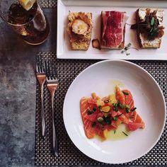 Enjoying some Mediterranean delicatessen for lunch today. A great venue thanks for having us @figandolive @callmemademoiselle by carolinereceveurlucas