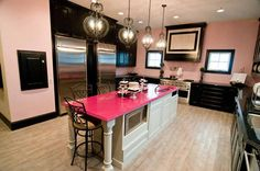 ABC's Extreme Makeover: Home Edition, designed this kitchen for an all girls home
