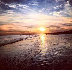 Summer sunset Bracklesham Beach by Lizzie Reakes