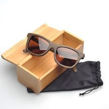 Bamboo Wooden glasses Wayfarer Wood sunglasses with Wood Box (ZA03-ZBR-B) #shoptheworld