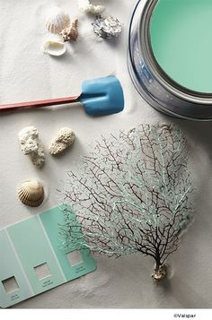 Valspar colors inspired by the beach - perfect for summer.