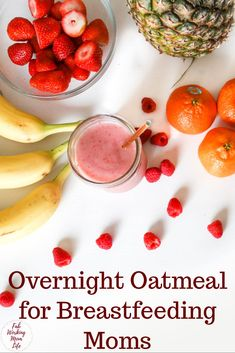 Make this easy overnight oatmeal lactation breakfast. Try this lactation oatmeal recipe for a healthy breastfeeding-friendly breakfast. Lactation Oatmeal Recipe, Lactation Recipes, Lactation Cookies, Oatmeal Recipes, Healthy Eating Tips, Healthy Kids, Healthy Snacks, Healthy Recipes, Fruit Snacks
